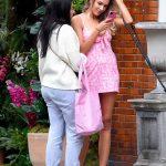Zara McDermott in a Pink Mini Dress
