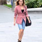 Zoe Hardman in a Pink Blazer