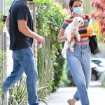 Ana De Armas in a Striped Tee Leaves Her House Out with Ben Affleck in Venice Beach 08/19/2020
