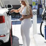 Blac Chyna in a White Outfit