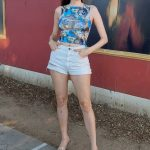 Blanca Blanco in a Daisy Duke Shorts Does a Photoshoot in West Hollywood 08/24/2020