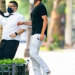Bradley Cooper in a Black Tee Was Seen Out in New York 08/21/2020