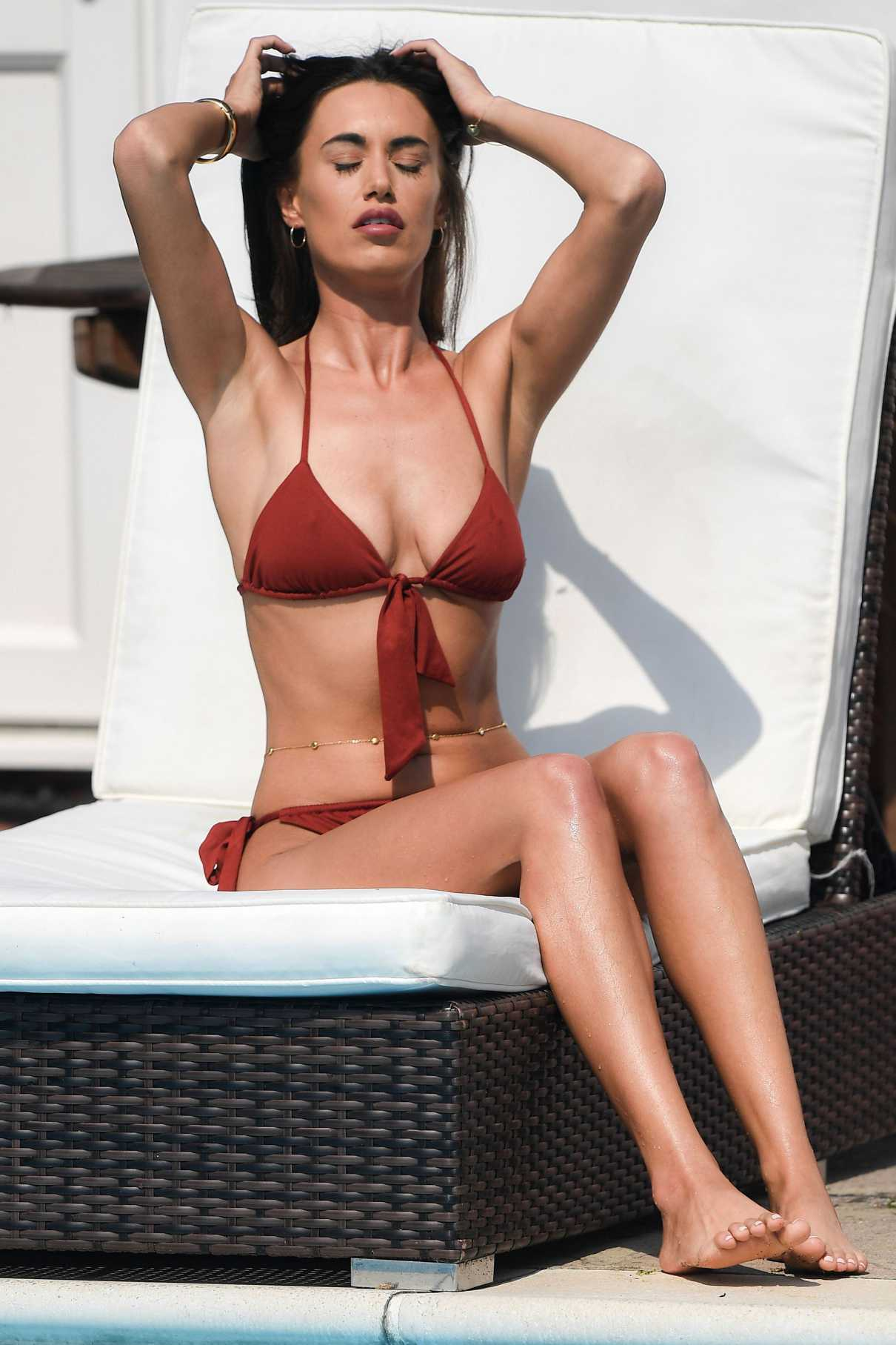 Clelia Theodorou in a Red Bikini