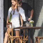 Gabriella Brooks in a White Tank Top Steps Out for a Lunch Date with Liam Hemsworth in Byron Bay 08/14/2020