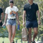 Henry Golding in a Black Tee Was Seen Out with His Wife Liv Lo Golding in Los Angeles 08/21/2020