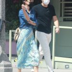 Henry Golding in a White Pants Was Seen Out with His Wife Liv Lo Golding in Santa Monica 08/27/2020