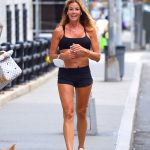 Kelly Bensimon in a Black Shorts Out for a Run in Manhattan, NY 08/17/2020