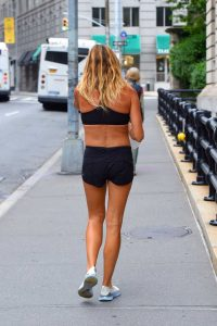 Kelly Bensimon in a Black Shorts