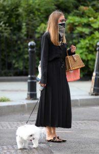 Olivia Palermo in a Black Dress