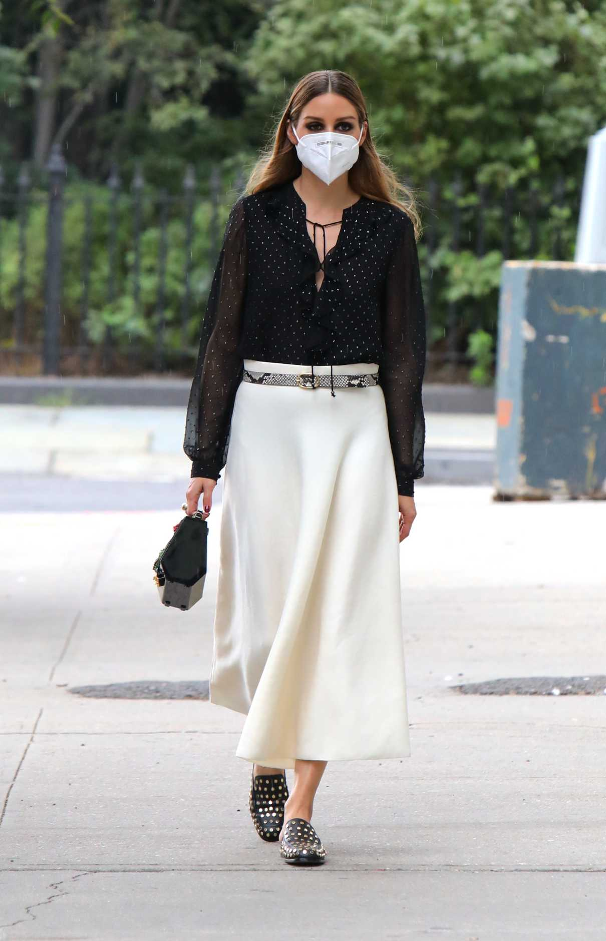 Olivia Palermo in a White Skirt