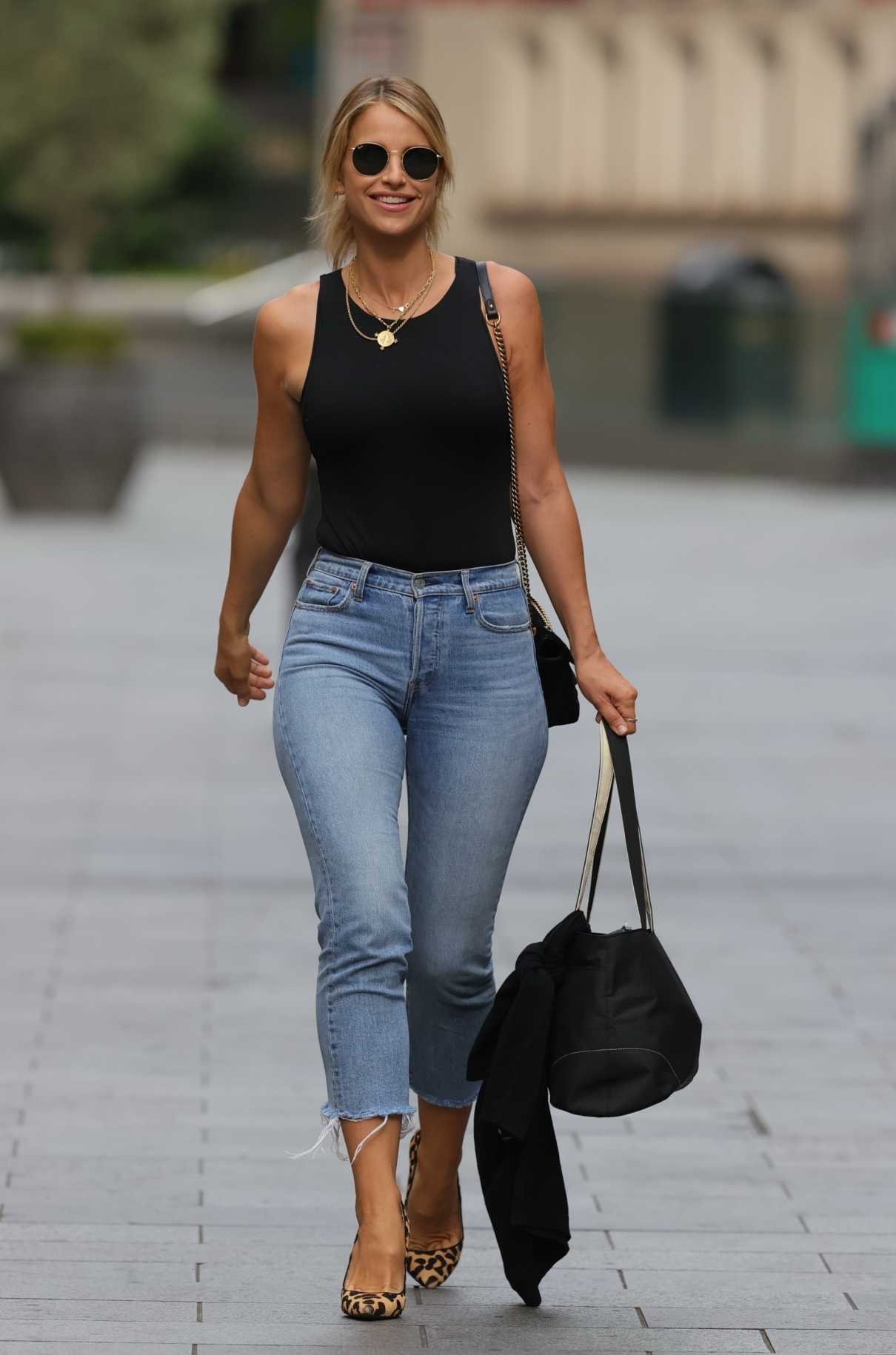Vogue Williams in a Black Tank Top