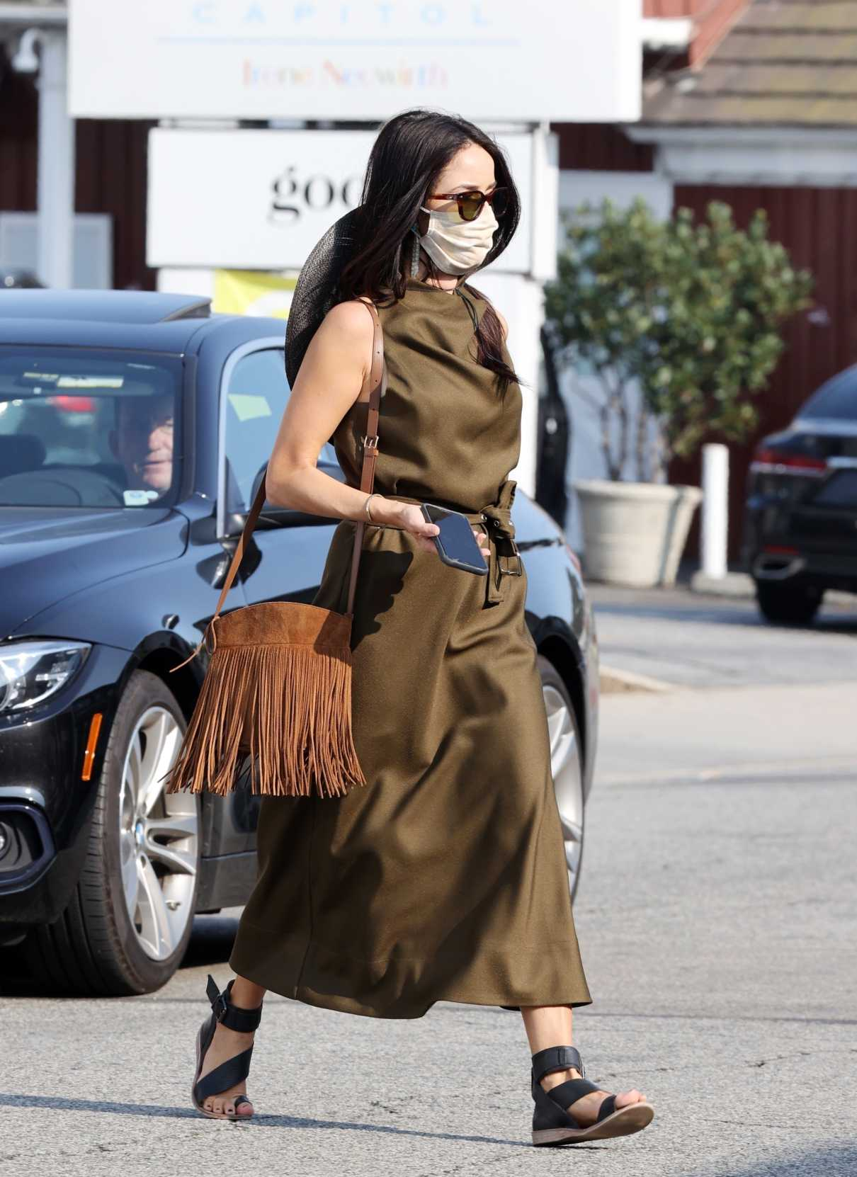 Abigail Spencer in a Protective Mask