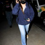 Addison Rae in a Black Protective Mask Arrives for Alex Warren's Birthday Celebration at BOA in Hollywood 09/19/2020