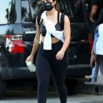 Addison Rae in a Black Protective Mask Leaves a Workout at Dogpound in West Hollywood 09/17/2020