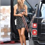 Alessandra Ambrosio in a Black Mini Dress Was Seen Out in Los Angeles 09/17/2020