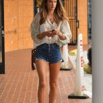Alessandra Ambrosio in a Daisy Duke Shorts Was Seen Out in Brentwood 09/10/2020