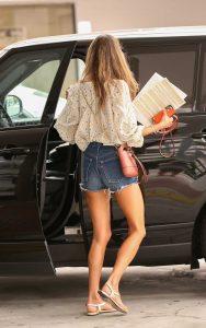 Alessandra Ambrosio in a Daisy Duke Shorts