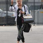 Anne Heche in a White Bomber Jacket