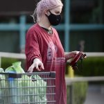 Ariel Winter in a Black Protective Mask