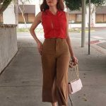 Blanca Blanco in a Red Blouse Was Seen Out in West Hollywood 09/13/2020