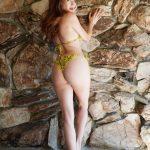 Blanca Blanco in a Yellow Bikini