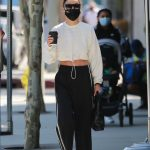 Cara Santana in a Black Track Pants Was Seen Out in West Hollywood 09/01/2020