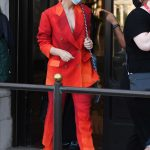 Cate Blanchett in a Red Suit Leaves Her Hotel During the 77th Venice Film Festival in Venice 09/05/2020