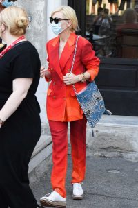 Cate Blanchett in a Red Suit