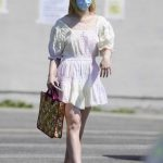 Elle Fanning in a Protective Mask Goes Shopping in Los Angeles 09/09/2020