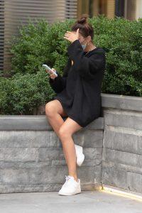 Emily Ratajkowski in a Black Sweater