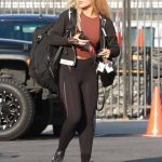 Emma Slater in a Black Leggings Leaves the Dance Studio in Los Angeles 09/18/2020