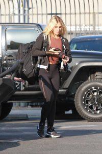 Emma Slater in a Black Leggings