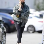 Hilary Duff in a Grey Bomber Jacket Was Seen Out in Los Angeles 09/25/2020