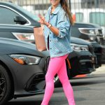 Jenna Johnson in a Pink Leggings