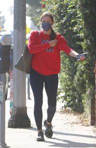 Jennifer Garner in a Red Sweatshirt