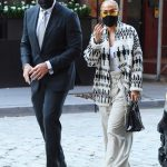 Jennifer Lopez in a White Pants Was Seen Out with Alex Rodriguez in Tribeca, New York 09/08/2020