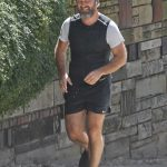 Jude Law in a Black Sneakers Goes for a Jog in London 09/16/2020