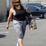 Justina Machado in a Protective Mask Arrives at the Studio in Los Angeles 09/03/2020