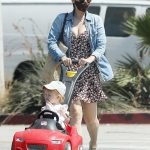 Kate Mara in a Denim Shirt Was Seen Out with Her Baby and a Friend at the Park in Los Angeles 09/04/2020