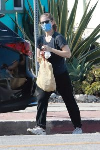 Kate Mara in a Protective Mask