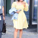 Katie Melua in a Yellow Dress