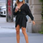 Kelly Bensimon in a Black Dress Was Seen Out in Soho in New York 09/14/2020