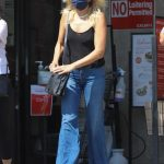 Malin Akerman in a Black Top Makes a Quick Trip to Gelson's Market in Los Feliz 09/23/2020