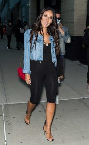 Melissa Gorga in a Denim Jacket