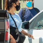 Olivia Munn in a Black Protective Mask Leaves Her Gym After a Workout in Los Angeles 09/02/2020