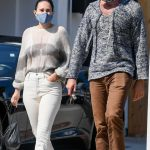 Rumer Willis in a White Jeans Was Seen Out with Armie Hammer in Los Angeles 09/02/2020
