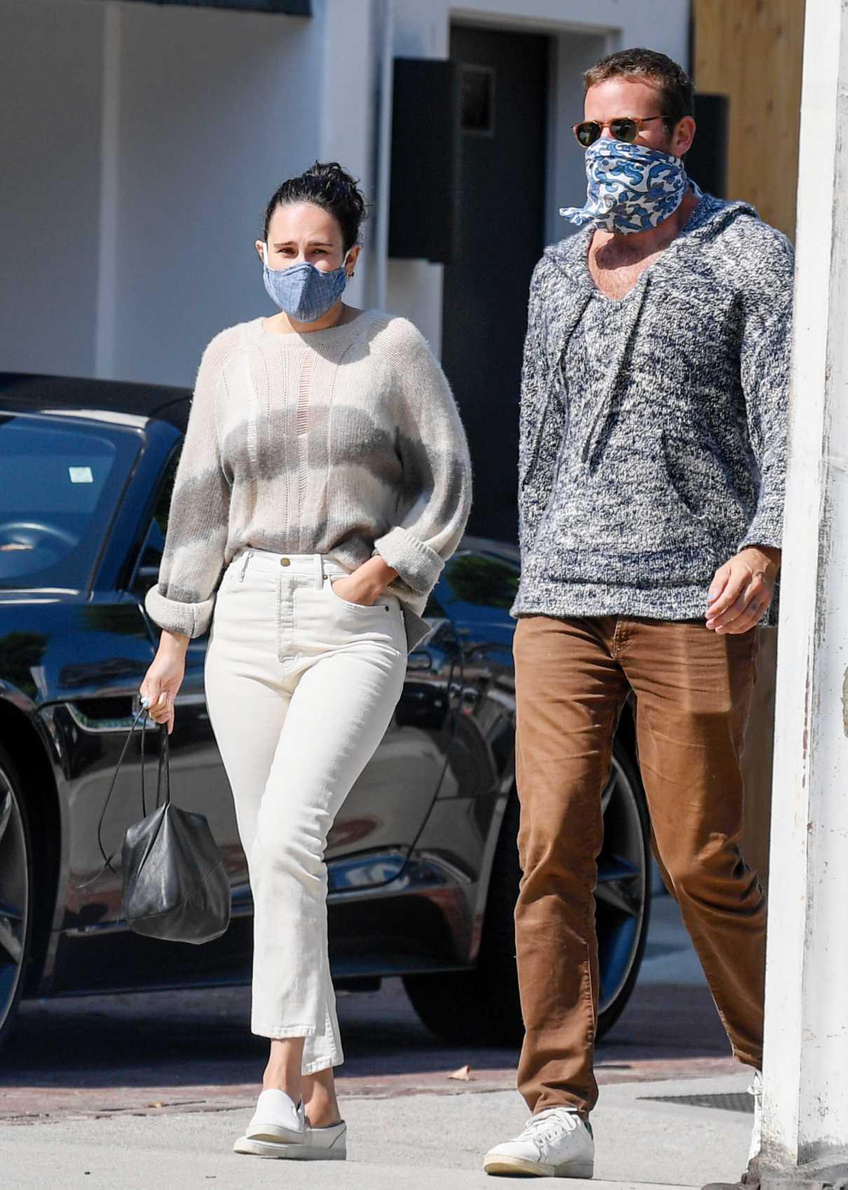 Rumer Willis in a White Jeans