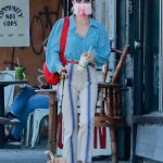 Scout Willis in a Stylish Protective Mask Walks Her Dog in Los Angeles 09/01/2020