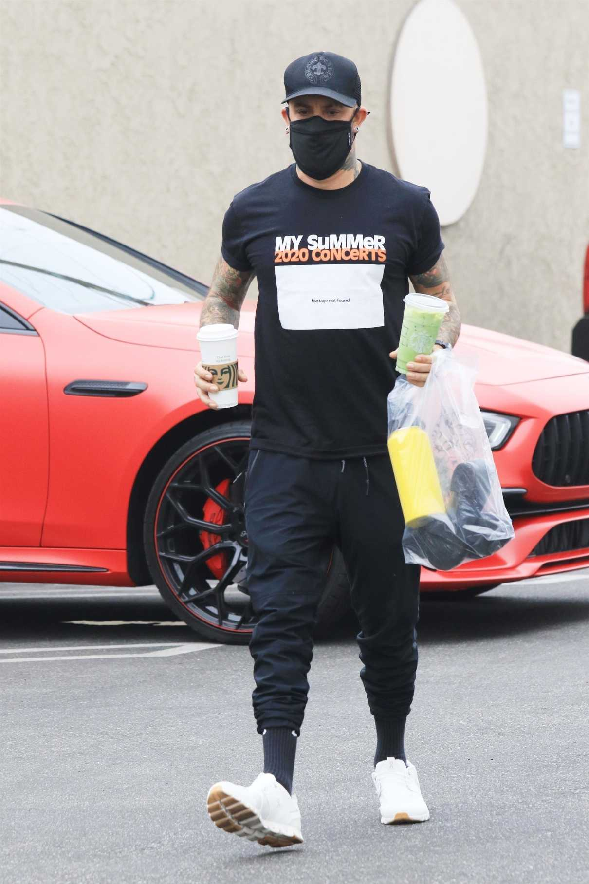 AJ McLean in a Black Tee