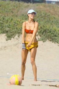 Alessandra Ambrosio in a Red Bikini